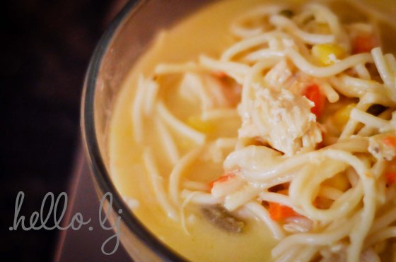 Creamy Chicken Noodle Soup by http://hellolj.wordpress.com